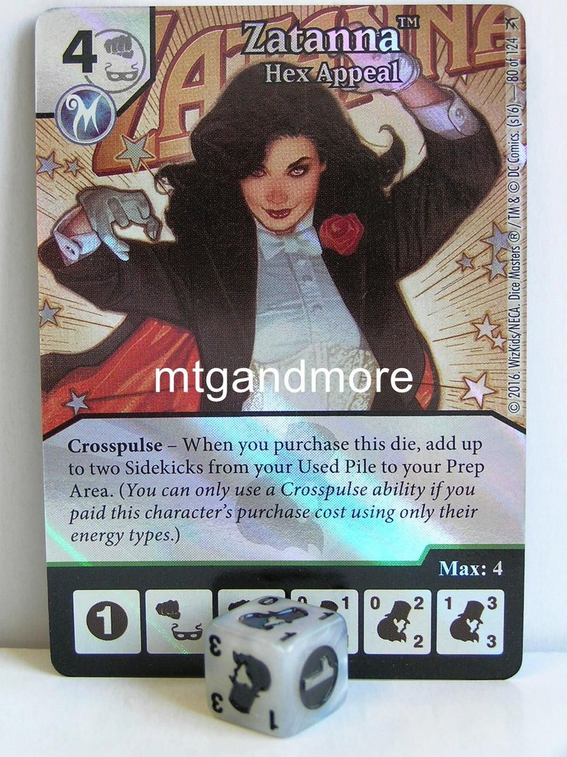 Foil ZATANNA HEX APPEAL 80 Green Arrow and The Flash Dice Masters