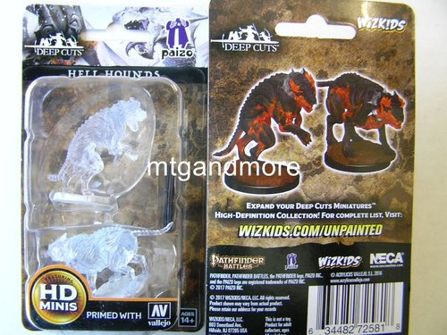 WZK72581 - Pathfinder Deep Cuts Wave 1 - Unpainted Miniatures Hell Hounds