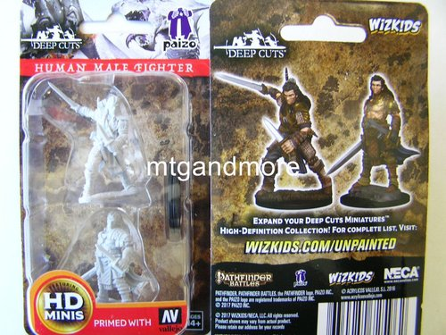 WZK72596 - Pathfinder Deep Cuts Wave 1 - Unpainted Miniatures Human Male Fighter