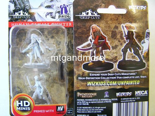 WZK72597 - Pathfinder Deep Cuts Wave 1 - Unpainted Miniatures Human Female Fighter