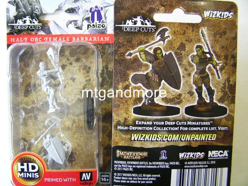 WZK72614 - Pathfinder Deep Cuts Wave 1 - Unpainted Miniatures Half-Orc Female Barbarian