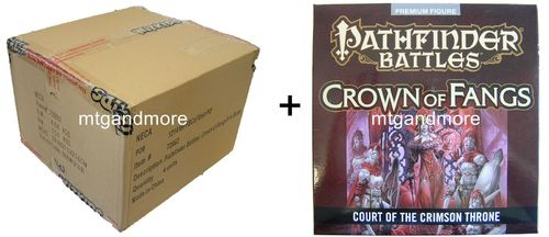 Pathfinder Battles Crown of Fangs Booster Case + Court of the Crimson Throne