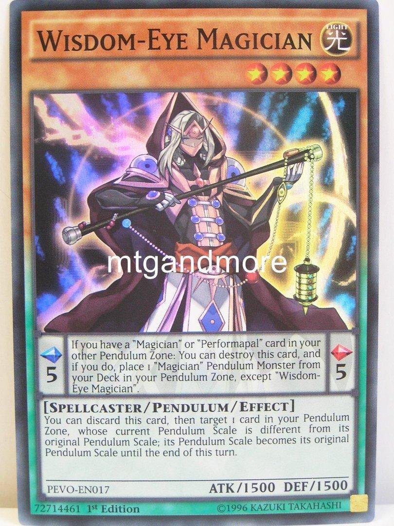 yugioh 017 wisdom eye magician pendulum evolution mtgandmore de