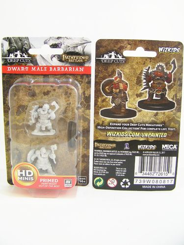 PREORDER - WZK72615 - Pathfinder Deep Cuts Wave 4 - Unpainted Miniatures - Dwarf Male Barbarian