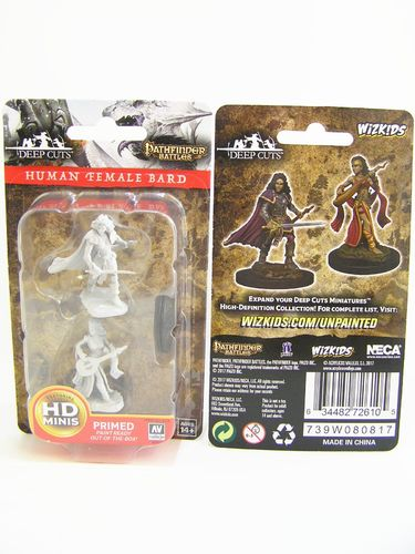 PREORDER - WZK72610 - Pathfinder Deep Cuts Wave 4 - Unpainted Miniatures - Human Female Bard