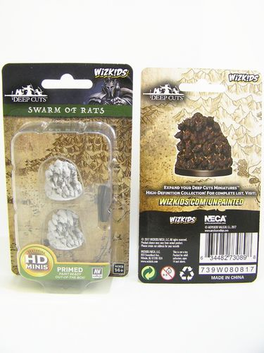 PREORDER - WZK73089 - Pathfinder Deep Cuts Wave 4 - Unpainted Miniatures - Swarm of Rats