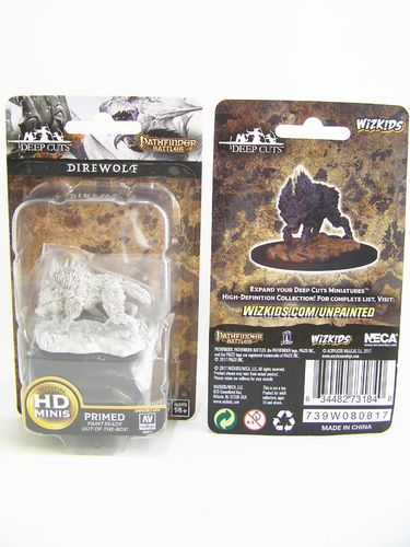 PREORDER - WZK73184 - Pathfinder Deep Cuts Wave 4 - Unpainted Miniatures - Dire Wolf