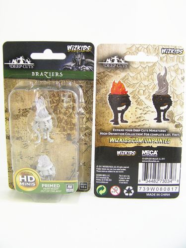 PREORDER - Pathfinder Deep Cuts Wave 4 - Unpainted Miniatures - Braziers