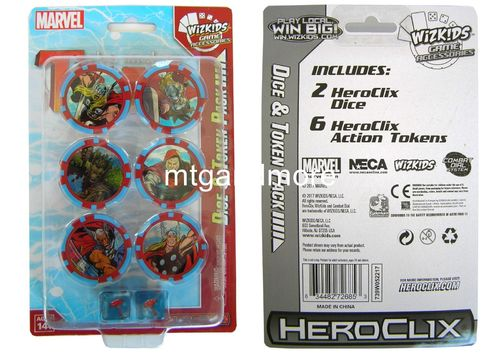 Heroclix The Mighty Thor Dice & Token Pack