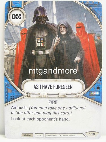 Star Wars Destiny - #016 As I Have Forseen - Force Friday Starter