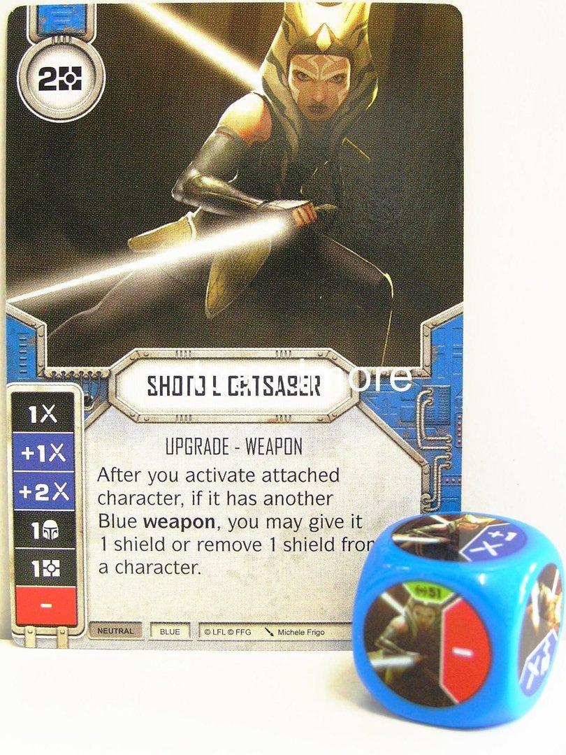 Star Wars Destiny 051 Shoto Lightsaber Dice Blue Empire At