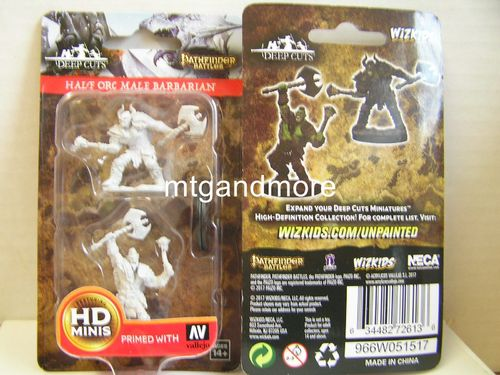 WZK72613 - Pathfinder Deep Cuts Wave 3 - Unpainted Miniatures - Half-Orc Male Barbarian