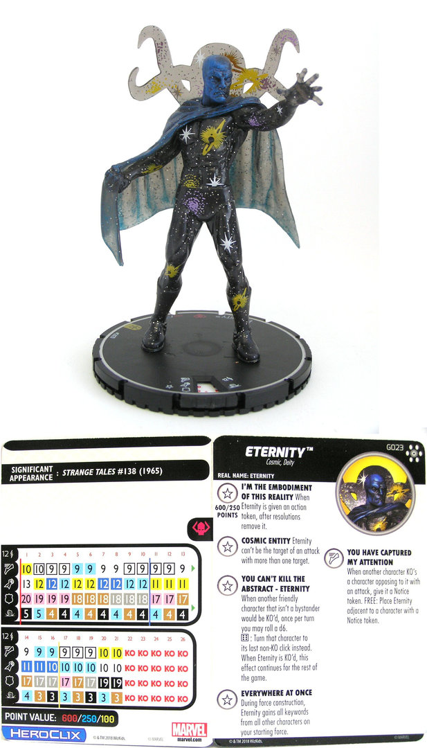 LORD CHAOS AND MASTER ORDER G021 Avengers Infinity Marvel HeroClix Colossal SR