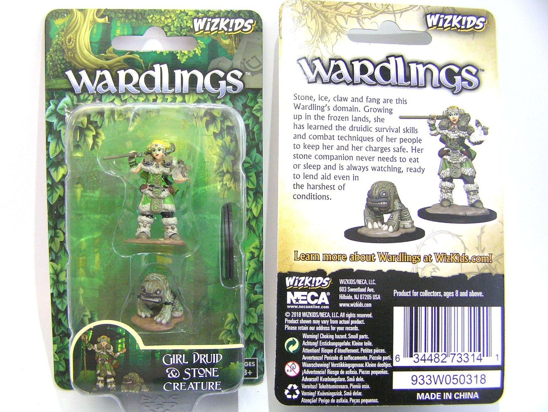 WZK73314 - Wizkids Wardlings Wave 2 - Girl Druid & Stone Creature