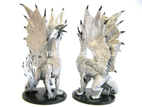 #041 Large Silver Dragon - Large Figure - Rusty Dragon Inn