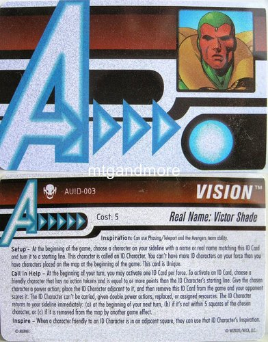 Vision ID Card AUID-003 - Age of Ultron