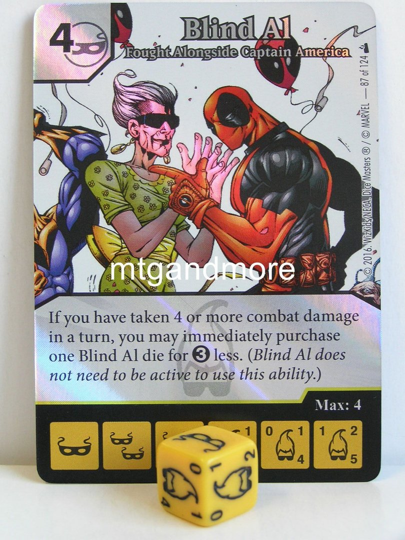 Dice Masters MARVEL Deadpool 087 Blind Al