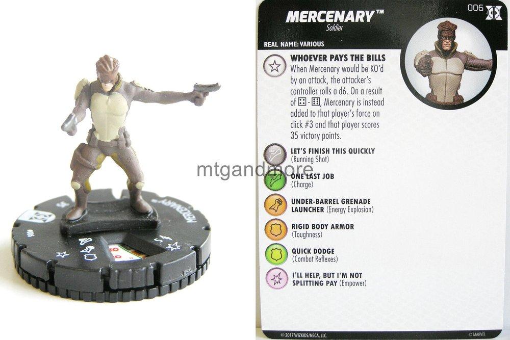 Heroclix Deadpool and X-Force # 006 Mercenary