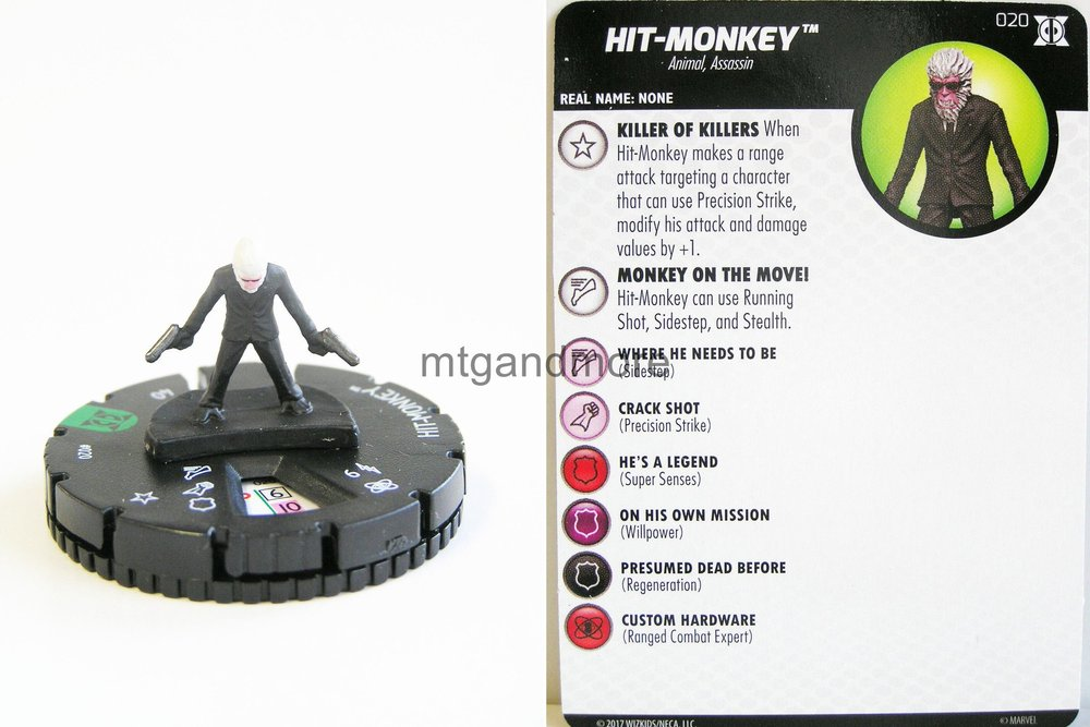 HeroClix Deadpool and X-Force #020 Hit-Monkey