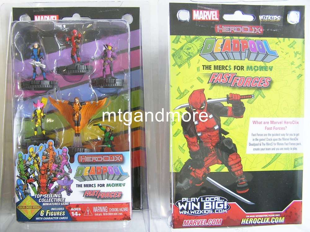 Heroclix Deadpool The Mercs For Money Fast Forces Pack Mtgandmorede