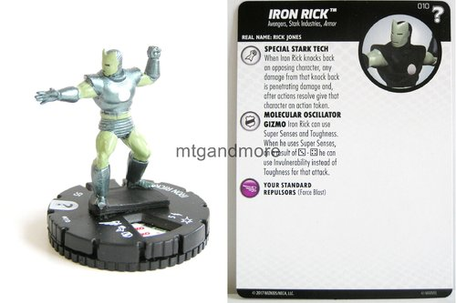 Heroclix - #010 Iron Rick - 15th Anniversary What If…