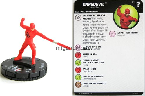 Heroclix - #017 Daredevil - 15th Anniversary What If…