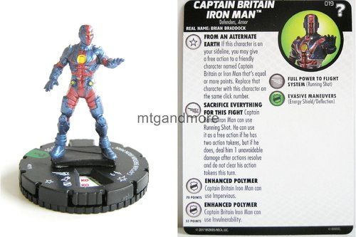 Heroclix - #019 Captain Britain Iron Man - 15th Anniversary What If…