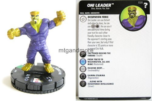 Heroclix - #020 Oni Leader - 15th Anniversary What If…
