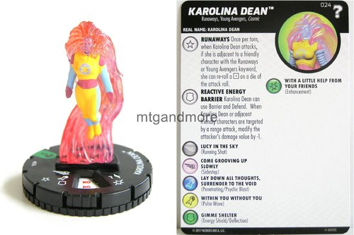 Heroclix - #024 Karolina Dean - 15th Anniversary What If…