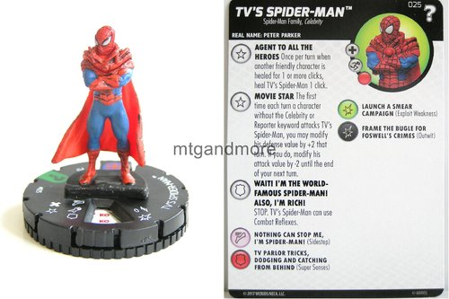 Heroclix - #025 TV´s Spider-Man - 15th Anniversary What If…