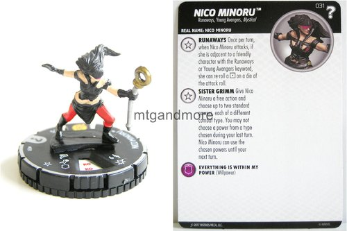 Heroclix - #031 Nico Minoru - 15th Anniversary What If…