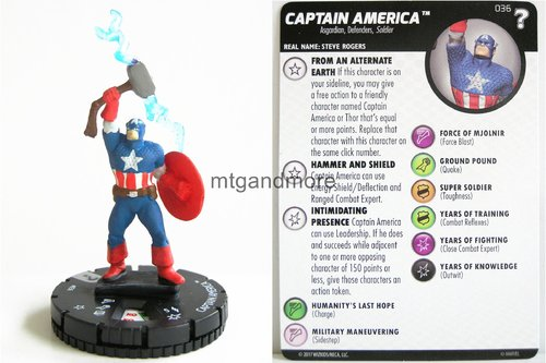 Heroclix - #036 Captain America - 15th Anniversary What If…