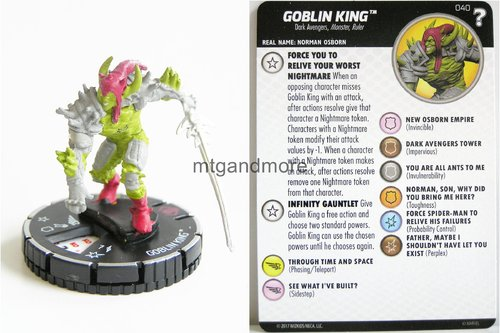 Heroclix - #040 Goblin King - 15th Anniversary What If…