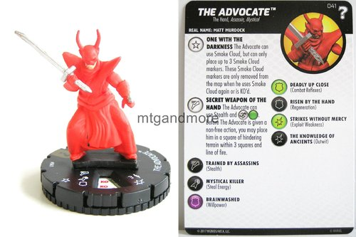 Heroclix - #041 The Advocate - 15th Anniversary What If…