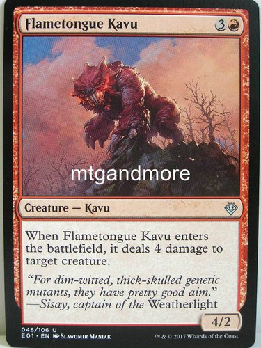 Magic - Flametongue Kavu - Archenemy Nicol Bolas