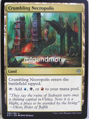 Magic - Crumbling Necropolis - Archenemy Nicol Bolas