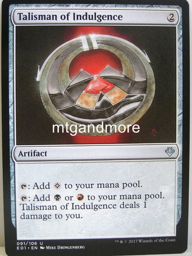 Magic - Talisman of Indulgence - Archenemy Nicol Bolas