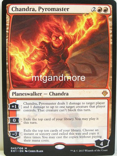 Magic - Chandra, Pyromaster - Archenemy Nicol Bolas