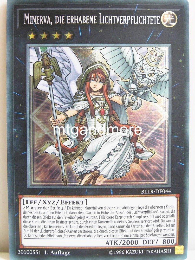 Die Erhabene Lichtverpflichtete BLLR-DE044 Minerva Secret Rare 1 Auflage