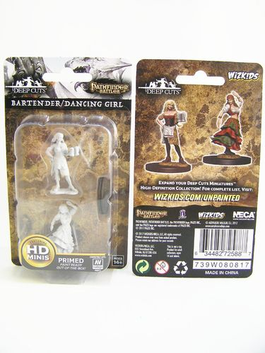 WZK72588 - Pathfinder Deep Cuts Wave 4 - Unpainted Miniatures - Bartender & Dancing Girl