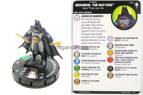 Heroclix - #024 Nekhrun, The Bat-God - Elseworlds