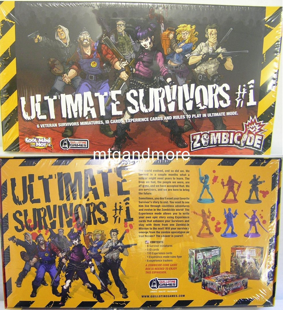 Zombicide Ultimate Survivors 1 Season 3 Mtgandmore De