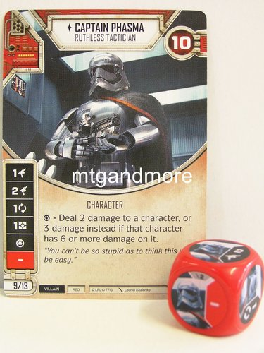 Star Wars Destiny - #002 Captain Phasma + Die - red - Force Friday Starter