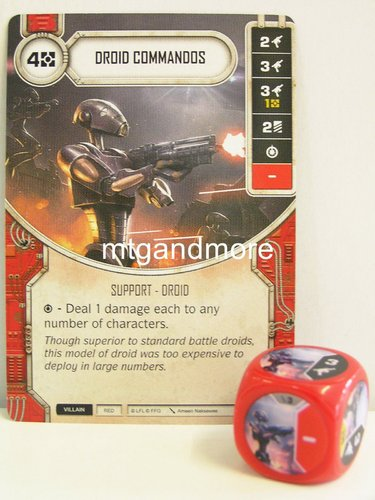 Star Wars Destiny - #003 Droid Commandos + Die - red  - Force Friday Starter