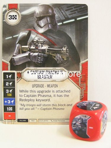 Star Wars Destiny - #004 Captain Phasma's Blaster + Die - red - Force Friday Starter