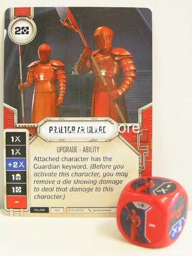 Star Wars Destiny - #005 Praetorian Guard + Die - red - Force Friday Starter
