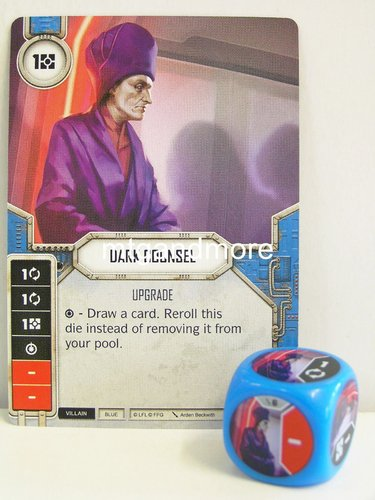 Star Wars Destiny - #006 Dark Counsel + Die - blue - Force Friday Starter
