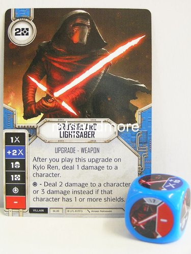 Star Wars Destiny - #007 Crossguard Lightsaber + Die - blue - Force Friday Starter