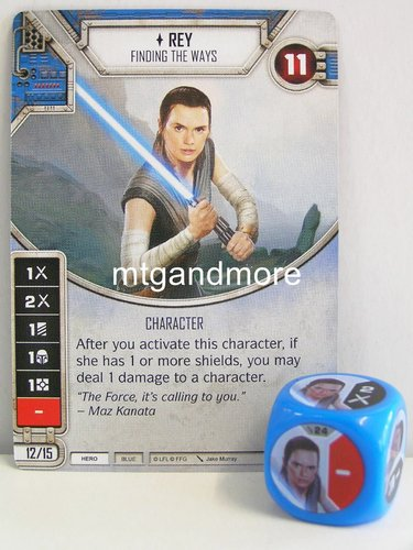 Star Wars Destiny - #024 Rey + Die - blue - Force Friday Starter