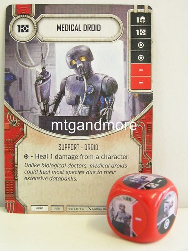 Star Wars Destiny - #026 Medical Droid + Die - red - Force Friday Starter
